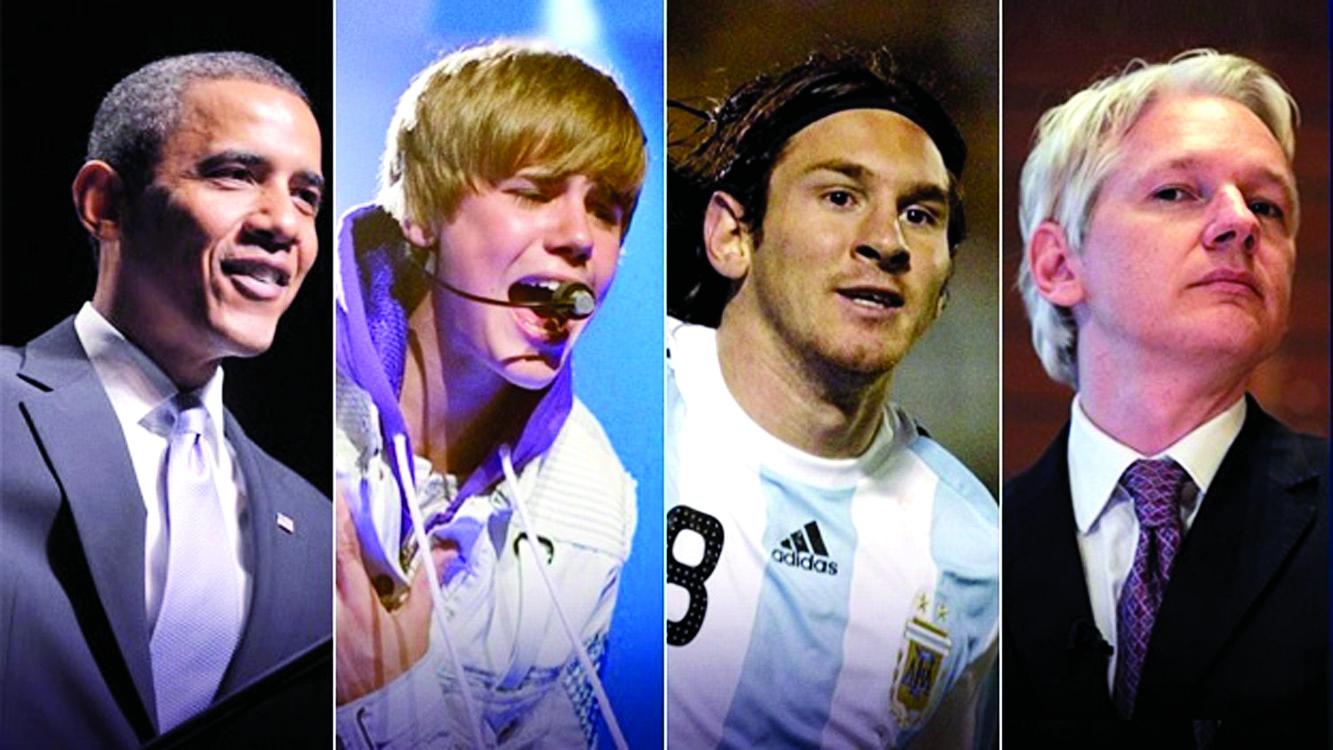 Assange, Obama, Bieber y Messi, entre los 100 más influyentes del año