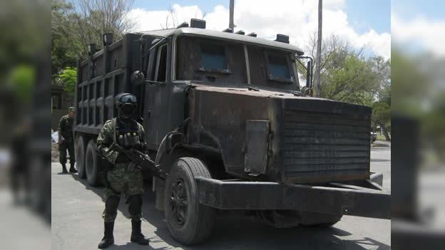 Camiones blindados para transportar droga