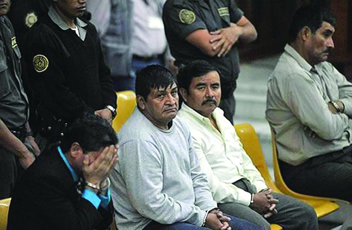 Más de 6 mil años de prisión a cuatro exmilitares guatemaltecos