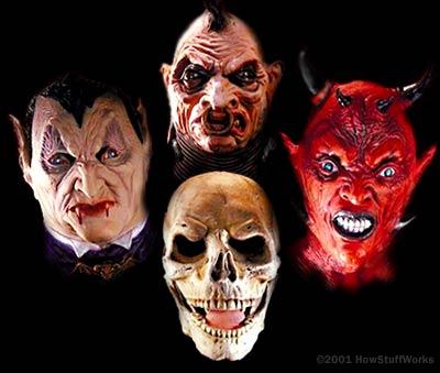 Las máscaras de Halloween