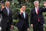 Obama y presidentes de Canadá y México buscan acuerdos comerciales