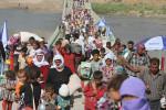 En el éxodo de yazidíes en Iraq no todos sobreviven