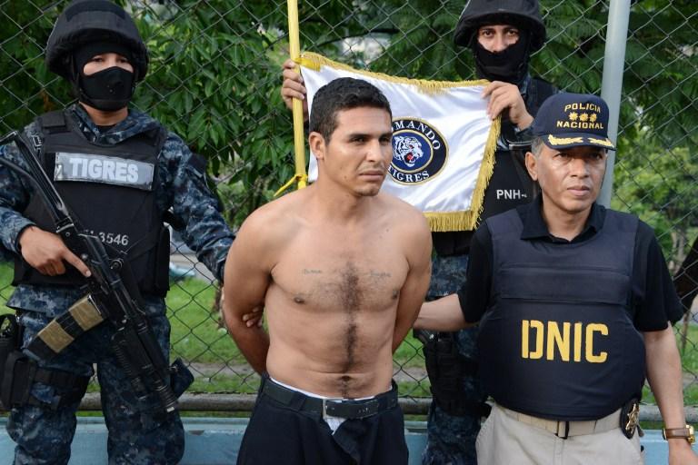 Policías de Honduras capturan a supuesto entrenador de pandilleros
