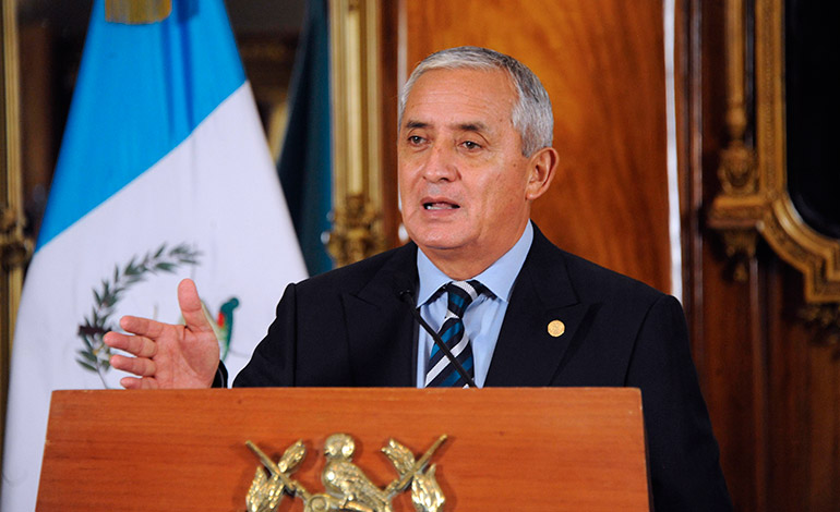 Presidente de Guatemala, Otto Pérez Molina
