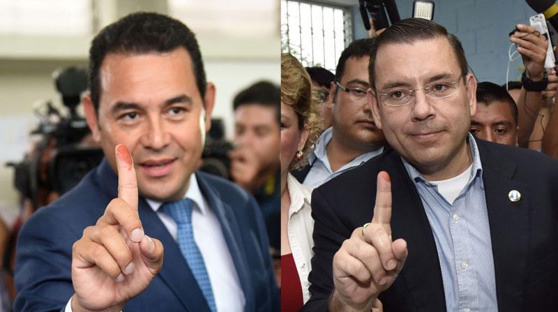 Manuel Baldizón y Jimmy Morales, disputarán la presidencia de Guatemala en segunda vuelta