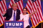 Colombiana grita su amor por Donald Trump
