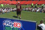 Washington Redskins realiza Campamento con niños hispanos